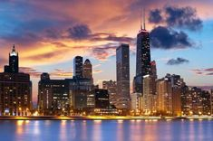 Chicago poster Metal Sign Wall Art 8inx12in