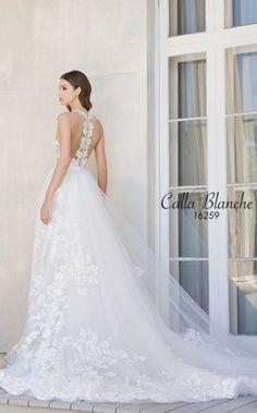 Featured Dress: Calla Banche; Wedding dress idea.