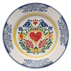Prato de mesa pintura Coração • Ø31x5cm • Charger / server plate Heart painting