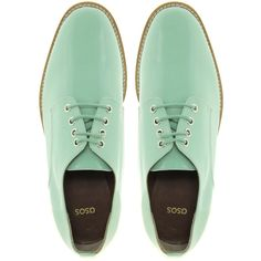 ASOS MACAROON Lace Up Flat Shoes ($28) ❤ liked on Polyvore