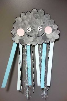 Projects For Kids, Art Projects, Crafts For Kids, Early Years Classroom, Fall Arts And Crafts, Rainbow Cloud, Paper Crafts, Diy Crafts, Classroom Crafts