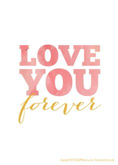 Love You Forever Free Nursery Printable Art by The DIY Mommy