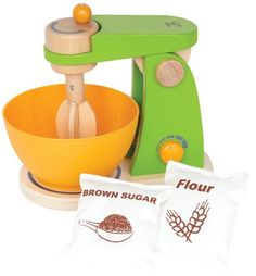 Amazon.com : Hape - Playfully Delicious - Mighty Mixer - Play Set : Childrens Cooking Appliances : Toys & Games