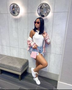 Boujee Outfits, Baddie Outfits Casual, Cute Swag Outfits, Dope Outfits, Teen Fashion Outfits, Simple Outfits, Stylish Outfits, Summer Outfits, Fashion Ideas
