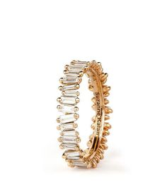My type of bands   18K GOLD ETERNITY BAGUETTE BAND – suzannekalan
