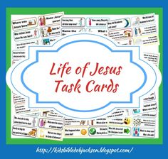 Life of Jesus Task Cards for Review of the Life of Jesus