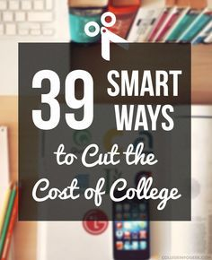 39 Ways You Can Cut The Cost Of College 39 ways to save money in – tips from a recent graduate! – College Scholarships Tips College Costs, College Planning, College Years, College Hacks, Scholarships For College, Education College, College Life, College Students, Online College