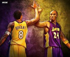Young Kobe Bryant x Veteran Kobe Bryant (Basketball Pictures) Young Kobe Bryant, Kobe Bryant 8, Kobe Bryant Family, Lakers Kobe Bryant, Bryant Basketball, Basketball Art, Jordan Basketball, Basketball Legends, Basketball Posters