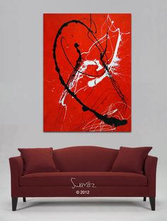 Recently Sold Modern Abstract Art Canvas Paintings and Drip art originals