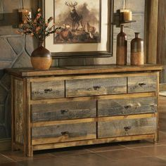 "Cabelas Mountain Woods Furniture Wyoming Collection, 7-drawer 72"" Dresser, on sale: $1750"
