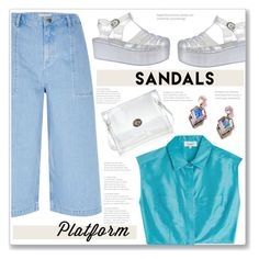 """""""""""Stand out Above the crowd Even if I gotta shout out loud 'Til mine is the only face you see Gonna stand out Stand out, hey Stand out!"""" ~Platform Sandals"""" by meleuterio ❤ liked on Polyvore featuring Loli Bijoux, River Island and Isa Arfen"""
