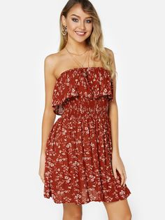 f16d7bc1ed3f Bring attention to this sexy floral dress. It is adorned with off the  shoulder neckline