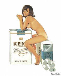 Micronite Mary Original Art by Mel Ramos :: PicassoMio Retro Ads, Vintage Advertisements, Vintage Ads, Vintage Posters, Advertising Ads, Vintage Stuff, Kent Cigarettes, Museum Store, Art En Ligne