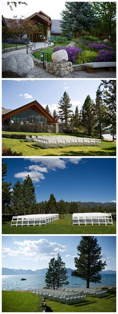Lake Tahoe California - beautiful place... have been to weddings there and all of them were beautiful, even with snow on the ground!!!!