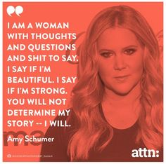 I'll never understand those that say Amy Schumer isn't funny or beautiful because she most certainly is. Smart, too.