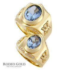 Gold rings with gemstones TCR66592