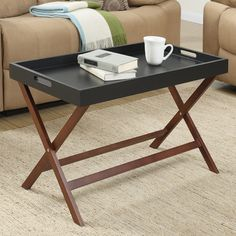 Andover Mills Baja Coffee Table with Removable Tray & Reviews | Wayfair