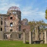Hiroshima, Japan. Atom dome, Peace Park. I was sure to make a couple trips here while I had the chance. Such a beautiful serene place.