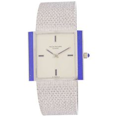 Patek Philippe White Gold and Lapis Lazuli Wristwatch with Bracelet Ref  3578 1   From b22283f1e68
