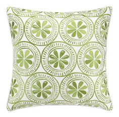 Kate Nelligan Sand Dollar Embroidered Linen Pillow