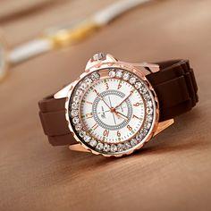$4.75 (Buy here: https://alitems.com/g/1e8d114494ebda23ff8b16525dc3e8/?i=5&ulp=https%3A%2F%2Fwww.aliexpress.com%2Fitem%2F2016-New-brand-fashion-Silica-gel-quartz-watch-women-clock-Elegant-women-Rhinestones-Watch-Bracelet-watch%2F32774030502.html ) New brand fashion Silica gel quartz watch women clock Elegant women Rhinestones Watch Bracelet watch relogio feminino NBSB015 for just $4.75