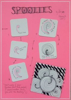 Spoolies ~ a Zentangle #tangle by Hanny Waldburger #CertifiedZentangleTeacher