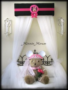 minnie mouse head boards bedroom | MINNIE MOUSE Bed Crown Canopy Princess Disney by SoZoeyBoutique