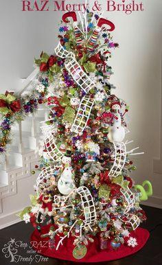 RAZ Merry & Bright Christmas Tree http://www.trendytree.com
