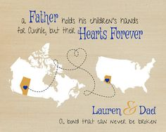 Gift For Dad Long Distance Gift Father And Daughter