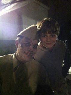Ty Simpkins with a ghost from Insidious please follow me,thank you i will refollow you later
