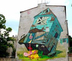 Poland, Lodz Ulica Nawrot 81.