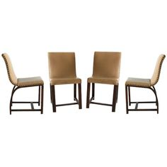 Set of Four Art Deco chairs Gilbert Rohde Heywood Wakefield | From a unique collection of antique and modern dining room chairs at http://www.1stdibs.com/furniture/seating/dining-room-chairs/