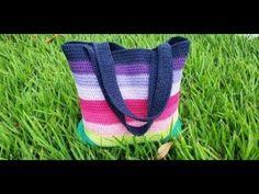 BOLSA DE CROCHÊ COLORIDA ADRIANA - YouTube Crochet Handbags, Girls Bags, Embroidery Designs, Knit Crochet, Projects To Try, Wool, Knitting, Crafts, Accessories