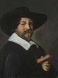 Frans Hals, portrait homme tenant un livre