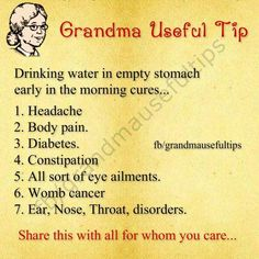 """""""Old wives tale"""" remedy"""