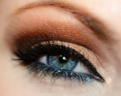 Golden brown with MUG eyeshadows – Makeup Geek Cosmetics Bada Bing, Bleached Blond, Burlesque, Corrupt, Gold Digger, Peacock, Shimma Shimma