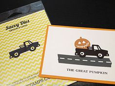 The great pumpkin!  use a truck I have and make halloween cards