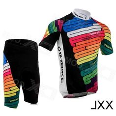 Inbike IA360 Bicycle Cycling Short Sleeves Jersey + Shorts Set - Multicolored (Size XXL)