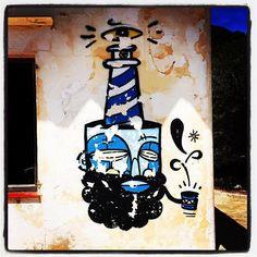Bonjour Bonjour !! #streetart #beard #graffiti #grafitti #barber #barberlife…