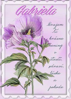 Gabriela Prajem Ti krásne meniny v šťastí, zdraví, láske a pohode