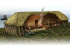 Norwegisches Wikingerlanghaus