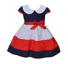 Resultado de imagen para vestidos de niña rojo con blanco