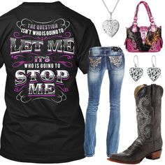 Who Is Going To Stop Me Outfit - Real Country Ladies