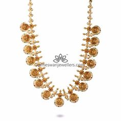 Traditional gold necklaces for women from the house of Kameswari. Shop for antique gold necklace, exquisite diamond necklace and more! Gold Pendant, Pendant Jewelry, Gold Jewelry, Gold Necklaces, Jewellery, Vaddanam Designs, Necklace Online, Stone Necklace, Diamond Engagement Rings