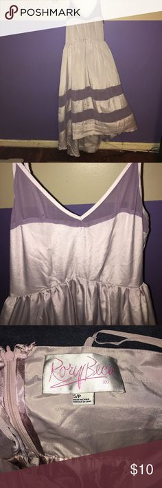 Two tone purple dress by Rory Beca Forever 21 S Gorgeous two tone purple dress with hi-low hem. Only ever tried on. Tags removed. Wish it worked on me so it's been sitting in a closet for the past few years. Rory Beca for Forever 21. Rory Beca Dresses High Low