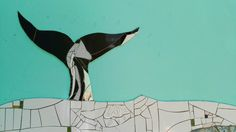 Whale fin mosaic by Julia Gurwicz & Ricardo Stefani.