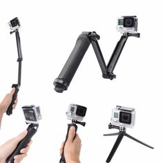 iMusk Collapsible Three-way Monopod Selfie Stick Mount Camera Grip Extension Arm Tripod Stand for Gopro Hero 5 4 3 and Xiaomi Yi Action Cameras Selfie Stick Camera, Selfies, Gopro Hero 1, Gopro Accessories, Sports Camera, Camera Tripod, Diving, Mini, Arm
