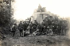 """""""A7V 560 is probably lurking in the rear behind 540, going by its similar, albeit faint, skull and crossbones and complete absence of large front flapped vision ports.  Both 540 and 560 served in Abteilung 1 in the Battle of la Montagne de Reims against the French on 1"""