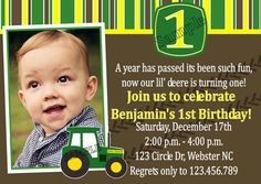 John Deere Tractor Inspired Boy Birthday by PeriwinklePress, $8.99
