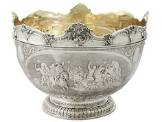 Sterling Silver Monteith Bowl - Antique Victorian  SKU: A4073 Price: GBP £6,950.00  http://www.acsilver.co.uk/shop/pc/Sterling-Silver-Monteith-Bowl-Antique-Victorian-41p7951.htm